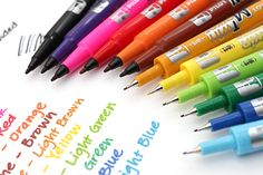 the pilot oil based twin markers write on all sorts of media, including paper, plastic, metal, & other surfaces. it is often referred to as the best pen for writing on washi tape. School Supplies, Art Supplies, Office Supplies, Jet Pens, Pens And Pencils, Pen And Paper, Copics, Fine Fine, Recycled Materials