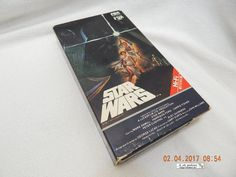 STAR WARS (RED LABEL)! VHS TAPE! 1984! A ONE OWNER VIDEO! PLAYS WELL! AS IS!