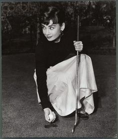 Audrey playing golf - soooooooo if it's good enough for Audrey, it's good enough for me!
