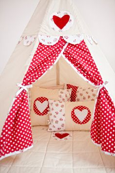 Henry's House - Teepee Play Mat and Cushions  www.henrys-house.com
