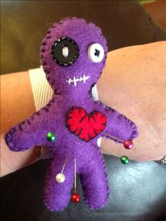 Felt voodoo doll pin cushion