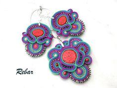Soutache Jewelery Set. Aurora by RebarJewelry on Etsy