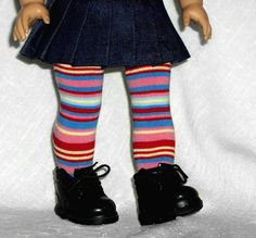 American Girl Doll Clothes Fire & Ice Hip High Socks Stockings $4.50 made from BabyLegs brand leg warmers