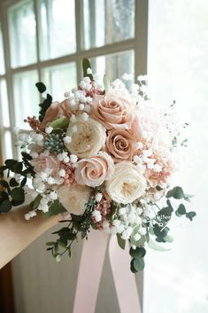 How exactly to Obtain the Bride Bouquet and Groom Boutonniere Equilibrium? When searching for bridal Hand Bouquet Wedding, Simple Wedding Bouquets, Diy Wedding Flowers, Wedding Flower Arrangements, Bride Bouquets, Bridal Flowers, Rose Bouquet, Simple Weddings, Wedding Centerpieces