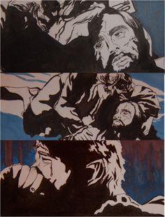 The Last Goodbye: Thorin and Bilbo Art by Adah K.