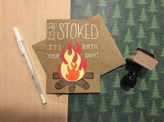 Any camping lovers in your life? I bet that at some point during the year they've got a birthday haha. I've got the perfect birthday card for them!  This card is 4 x 5.5 in size and is made on cardstock with paper and gel pen details. The envelope is of course included!  If you