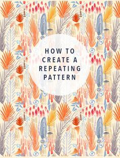how to create a repeating pattern justina blakeney                                                                                                                                                                                 More