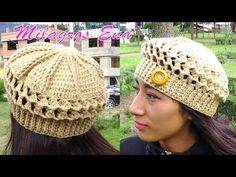 Boina a Crochet en Punto Panal de Abeja o nido de Abeja paso a paso en  diferentes tallas 52ed3705ef1