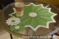 Szydełkowa pasja Kaśki: Limonka z białym :)