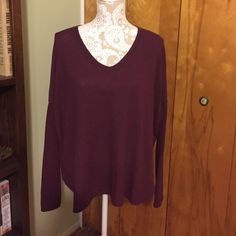 Loose fitting long sleeve top Gently used. The top is meant to have the pilling effect on it. One size, fits oversized Brandy Melville Tops