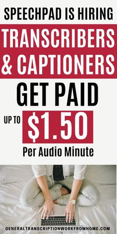 Get paid to type files. Make up to $1 per audio minute. No experience required. Get transcription and captioning jobs for beginners with Speechpad. This is one of the easiest transcription companies for beginners. #typingjobs #typingjobsfromhome #typingjobsonline #transcription #transcriptionjobs Typing Jobs From Home, Online Typing Jobs, Work From Home Jobs, Online Jobs, Transcription Jobs For Beginners, Transcription Jobs From Home, Captioning Jobs, Data Entry, Job S