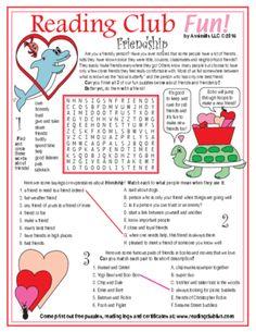 FLASH FREEBIE - Valentine's Day and Friendship Word Search
