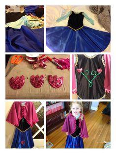 Anna, from Frozen costume. DIY