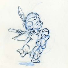 Original Disney pencil drawings.  (via)