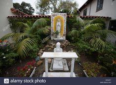 Prayer Garden, Immaculate Conception Catholic Church, Old Town, San Diego,  California USA