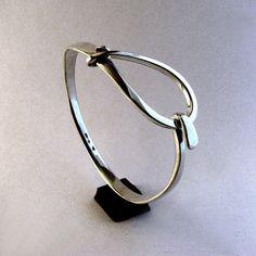 Silver Bracelet Sterling Large Loop Latch by cgwhitfield