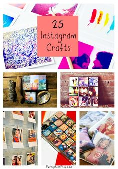 25 DIY Instagram Crafts...tons of awesome ideas!  #diy #instagram #craft Daily update on my site: ediy3.com