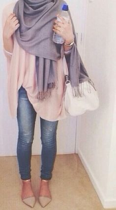 When feeling girly: lavender and blush together.