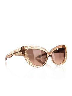 From two of fashion's most creative minds comes this fabulous and feminine pair of Cat-eye Feather Sunglasses. @LindaFarrow @CharlotteOlympia