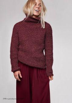 Tiril høstgenser   Idestova As Angora, Girl Humor, Making Ideas, Hue, Crochet, Turtle Neck, Wool, Knitting, My Style