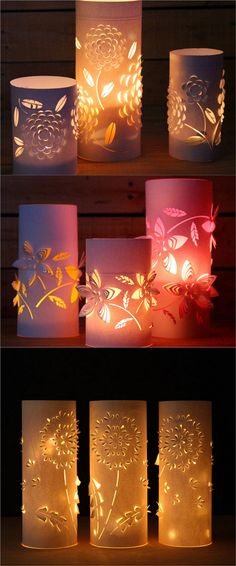 28 Stunning DIY Outdoor Lighting Ideas ( & So Easy! ) - A Piece of Rainbow 28 Stunning DIY Outdoor Lighting Ideas ( & So Easy! ) 28 Stunning & Easy DIY Outdoor Lights from cedar path lights, mason jar Mason Jar Solar Lights, Mason Jar Lighting, Candle Lighting, Mason Jar Lanterns, Diy Luz, Diy Y Manualidades, Christmas Table Decorations, Wedding Decorations, Outdoor Decorations