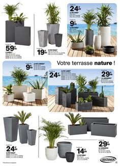 Nos catalogues du moment Front Yard Garden Design, Backyard Garden Design, Balcony Garden, Front Yard Landscaping, Home Entrance Decor, House Plants Decor, Indoor Plants, Bamboo Planter, Outdoor Planters