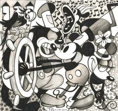Steamboat Willie #disney fine art