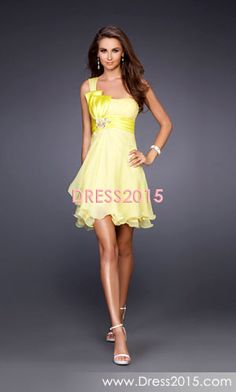 A-Line Princess One-Shoulder Short Mini Chiffon Charmeuse Homecoming Dress  With Ruffle Beading 6c3a736cdabb