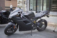 #Ducati 848 in matte black #motorcycle
