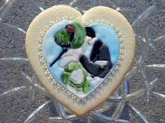 Victorian Kiss on a sugar cookie :)