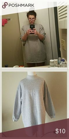 ?5 for 15?Oversized Sweater Would look lovely with some leggings and boots on a spring or fall day. Tops