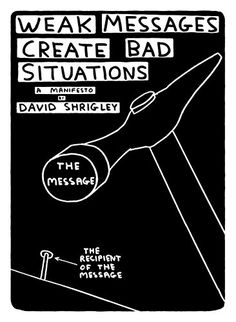 """David Shrigley """"Weak Messages Create Bad Situations: A Manifesto"""" 2014"""