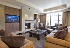 While at CHil Design Group - contemporary - family room - vancouver - Claudia Leccacorvi