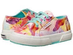 Superga Kids 2750 Fabric J Bahamas (Infant/Toddler/Little Kid/Big Kid) Tropical Fuxia/Violet - 6pm.com