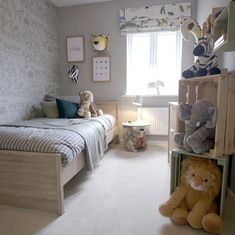 The Animal Dreams Theme Childrens Jungle Bedrooms, Boy Toddler Bedroom, Toddler Room Decor, Toddler Rooms, Boy Room, Kids Bedroom, Box Bedroom, Blue Bedroom Decor, Bedroom Themes