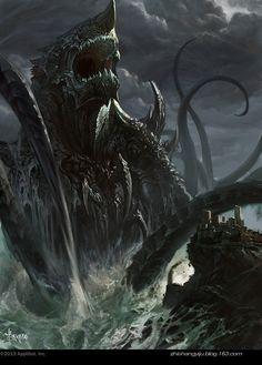 Artist: Bayard Wu aka bayardwu - Title: monster in deep 2 - Card: Eriberto, Ego Lost (Linger)