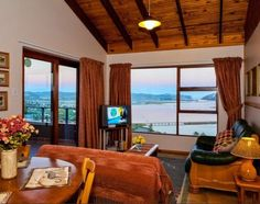 Paradise Found Knysna self-catering and B&B accommodation with stunning views over Knysna Lagoon in the heart of the Garden Route. Knysna, Paradise Found, Entrance, Windows, Catering, Room, Street, Home Decor, Garden