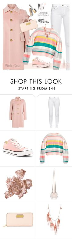"""Pretty pink coats 2"" by jan31 ❤ liked on Polyvore featuring RED Valentino, rag & bone, Converse, By Terry, Christian Louboutin, Marc by Marc Jacobs, Betsey Johnson, Burberry and pinkcoats"