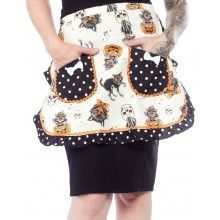SOURPUSS BLACK CATS APRON @ sourpuss clothing