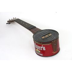 Coffee tin ukulele for Kester, who's instrument collection wouldn't be complete without one! : )