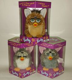 FURBY FAMILY--> Lot of 3 NEW 1998 Original Tiger  Vintage Limited Edition RARE #TigerElectronics