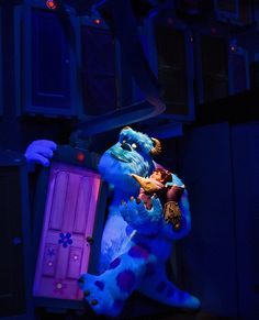 Sulley and Boo (This is from the ride, right? Disney's so good at what they do sometimes I can't tell!)