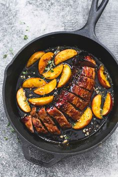 One Pan Brown Sugar Pork & Apples /// flavors were awesome! I over cooked it, but it has a lot of potential! (saved)