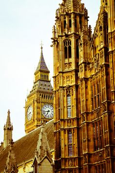 Big Ben, Westminster Palace and Houses of Parliament in London by A.W. Pugin (1812-1852)