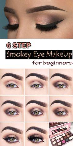 Bronze Smokey Eye, Pink Smokey Eye, Bronze Eye Makeup, Black Eye Makeup, Natural Smokey Eye, Smokey Eye For Brown Eyes, Natural Makeup, Black Smokey, How To Smoky Eye