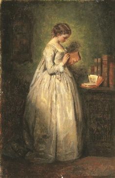 books0977:  Jeune fille lisant (1857). Charles Chaplin (French, 1825-1891). Oil on canvas.  The figure had an irresistible attraction for Ch...