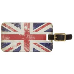 Simply love this Bag Tag with Distressed Union Jack Flag that's perfect for a citizen from United Kingdom.