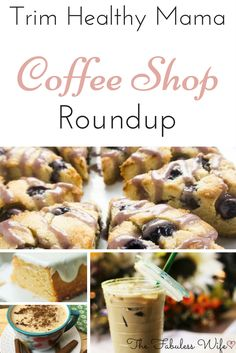 Here's a roundup of coffee-shop esque goodies. There are coffee drinks both hot and cold, teas, smoothies and pastries!It's like your favorite coffee shop just went THM friendly! Trim Healthy Mama Diet, Trim Healthy Recipes, Baby Food Recipes, Low Carb Recipes, Yummy Recipes, Ketogenic Recipes, Cream Recipes, Copycat Recipes, Vegan Recipes