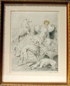 "Rare Louis Icart etching ""Symphony In White"""