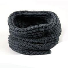 Colors -- Bugandy, Purplish Red, Dark Grey, Beige or Black  Juanshi Women Warm Infinity One Circle Knit Wool Blend Cowl Loop Scarf Shawl